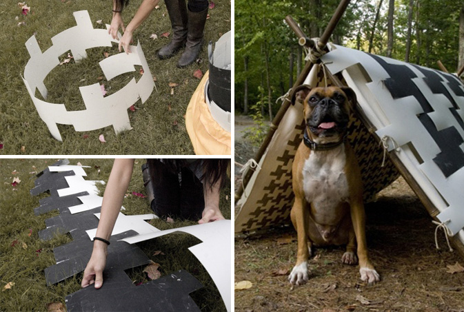 houndstooth-tent : tent with dog room - memphite.com