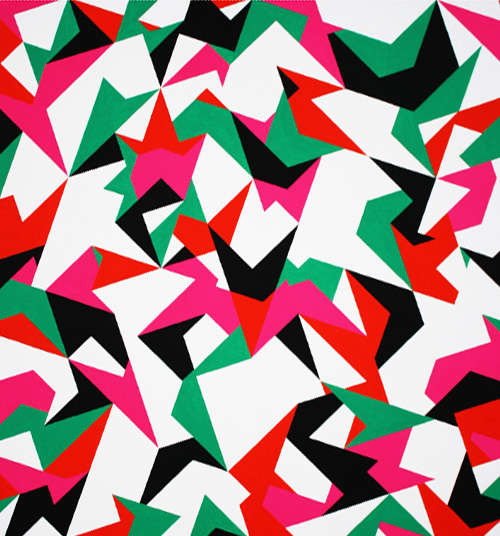 Textiles Art Gone Angular Optic Classy Angular Pattern